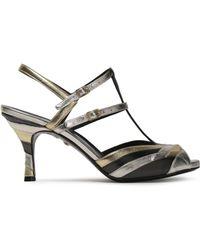 Just Cavalli   Metallic Leather Sandals   Lyst