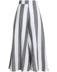 Paper London - Striped Linen Flared Trousers - Lyst