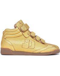 Jérôme Dreyfuss - Jérôme Dreyfuss Woman Metallic Leather High-top Sneakers Gold - Lyst