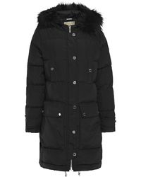 MICHAEL Michael Kors Faux Fur-trimmed Quilted Shell Hooded Down Coat Black