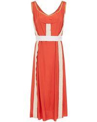 Marni - Color-block Satin Midi Dress - Lyst