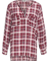 Joie | Nepal Checked Silk Crepe De Chine Top | Lyst
