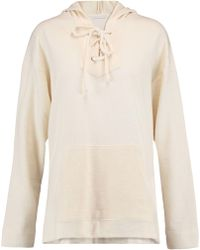 Kain - Apollo Lace-up Cotton-blend Jersey Hooded Sweatshirt - Lyst