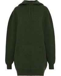 Victoria Beckham Wool-blend Hoodie - Green