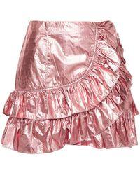 Cinq À Sept Cinq À Sept Ruffled Lamé Mini Skirt - Pink