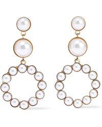 Elizabeth Cole - Woman 24-karat Gold-plated Faux Pearl Earrings White - Lyst