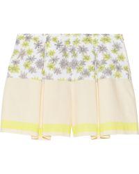 SUNO - Printed Cotton-poplin Shorts - Lyst