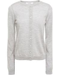 Gestuz Mélange Wool Cardigan - Grey