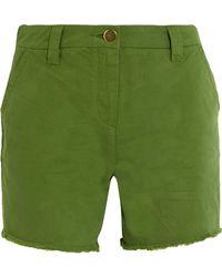 Topshop Unique | Badgemore Cotton-drill Shorts | Lyst