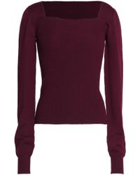 Chalayan - Cutout Ribbed Merino Wool Jumper - Lyst