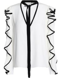 Alexis Woman Ruffled Silk Crepe De Chine Blouse White Size M Alexis Limited New Inexpensive Free Shipping Best Store To Get New Arrival Sale Online 2018 Cheap Price VyJg2cnl