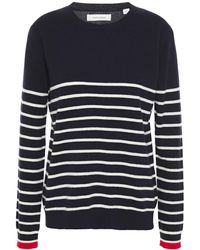 Chinti & Parker Striped Wool And Cashmere-blend Jumper - Blue