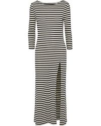 Solid & Striped - The Long Slit Striped Cotton-blend Midi Dress - Lyst