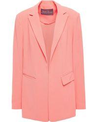 Lela Rose Crepe Blazer - Pink