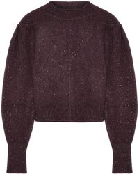 Isabel Marant - Elaya Cropped Donegal Stretch-knit Sweater - Lyst