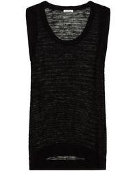 American Vintage Crochet-knit Tank - Black