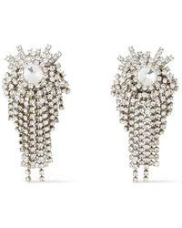 Alexandre Vauthier Tone Crystal Clip Earrings - Metallic