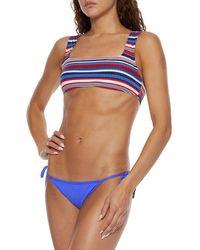 Seafolly Petal Edge Scalloped Low-rise Bikini Briefs - Blue