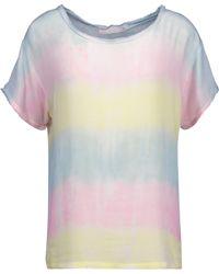Kain - Carine Frayed Tie-dyed Gauze Top - Lyst