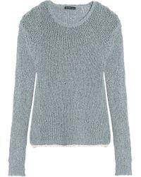 James Perse - Open-knit Cotton-blend Jumper - Lyst