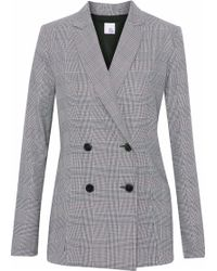 Iris & Ink - Goldie Double-breasted Prince Of Wales Checked Woven Blazer - Lyst