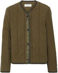 Rag & Bone Liner Quilted Slub Cotton-canvas Jacket Army Green