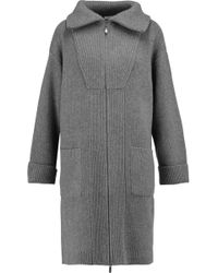 Duffy Ribbed Wool And Cashmere-blend Cardigan - Grey