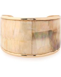 Kenneth Jay Lane Gold-plated Faux Mother-of-pearl Cuff Gold - Metallic