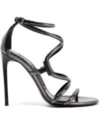 Tom Ford - Embellished Glossed-ayers Sandals - Lyst
