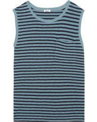 Splendid - Striped Stretch-jersey Top - Lyst