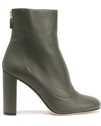 M Missoni - Leather Ankle Boots Army Green - Lyst