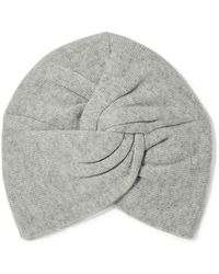 Madeleine Thompson - Woman Janice Twisted Wool And Cashmere-blend Beanie Light Gray - Lyst