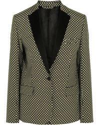 Jonathan Saunders - Louise Printed Silk And Wool-blend Blazer - Lyst