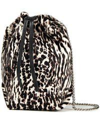 IRO Werpen Zebra-print Calf-hair Bucket Bag - Black