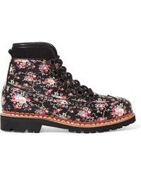 Tabitha Simmons | Bexley Floral-print Leather Ankle Boots | Lyst