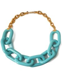 Kenneth Jay Lane - Gold-tone Resin Necklace - Lyst