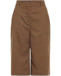 Veronica Beard Amaris Checked Woven Shorts - Natural