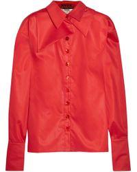 Ronald Van Der Kemp - Silk-trimmed Layered Cotton-sateen Shirt - Lyst
