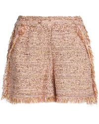 M Missoni - Frayed Cotton-blend Jacquard Shorts - Lyst