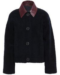 Victoria, Victoria Beckham Reversible Jacket With Spread Collar - Blue