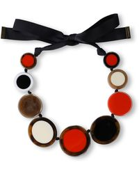 Kate Spade - Woman Acetate And Grosgrain Necklace Red - Lyst