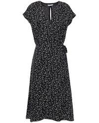 Joie Bethwyn Printed Silk-cady Wrap Dress - Black