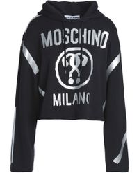 Moschino - Coated Printed French Cotton-terry Hooded Sweatshirt - Lyst