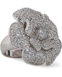 CZ by Kenneth Jay Lane - Silver-tone Crystal Ring - Lyst