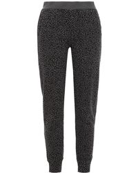 ATM Leopard-print French Cotton-terry Track Trousers Dark Grey