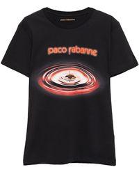 Paco Rabanne Printed Cotton-jersey T-shirt - Black