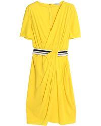 Vionnet - Wrap-effect Asymmetric Draped Crepe Dress - Lyst