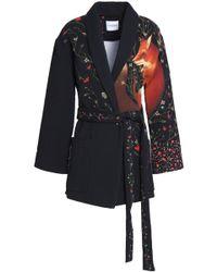 Vilshenko - Belted Printed Cloqué Jacket - Lyst