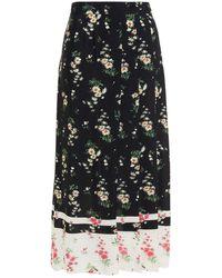 Vivetta Floral-print Crepe Midi Skirt - Black