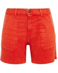 Ba&sh Selby Jeansshorts - Rot
